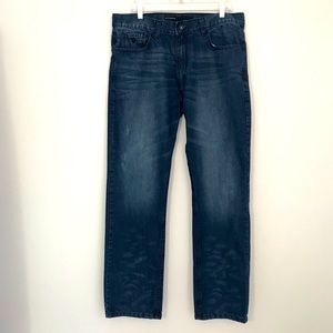ROCAWEAR Size 38 Lite Distressed Classic Fit Jeans